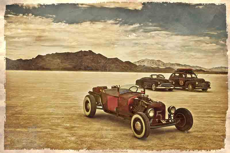 hot rods at bonneville  t-shirt