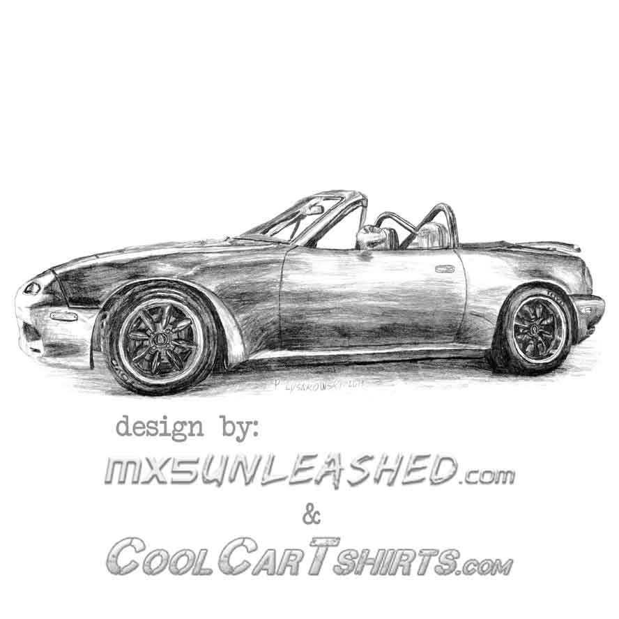 Miata in pencil