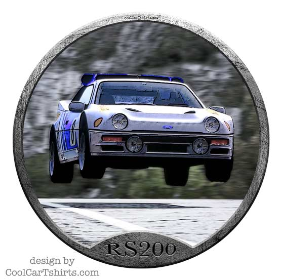 Ford RS200 group B Rally Car T shirt
